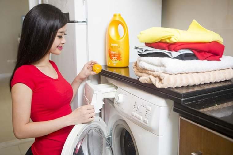 cách giặt đồ bằng máy giặt