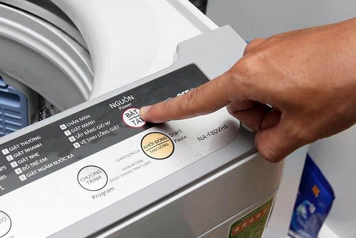 chế độ vệ sinh máy giặt panasonic