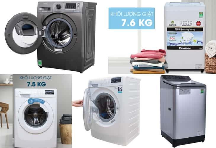 Lựa chọn kích thước máy giặt dựa vào đâu?