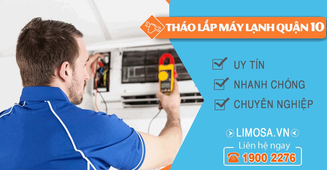 Dịch vụ tháo lắp máy lạnh quận 10 Limosa
