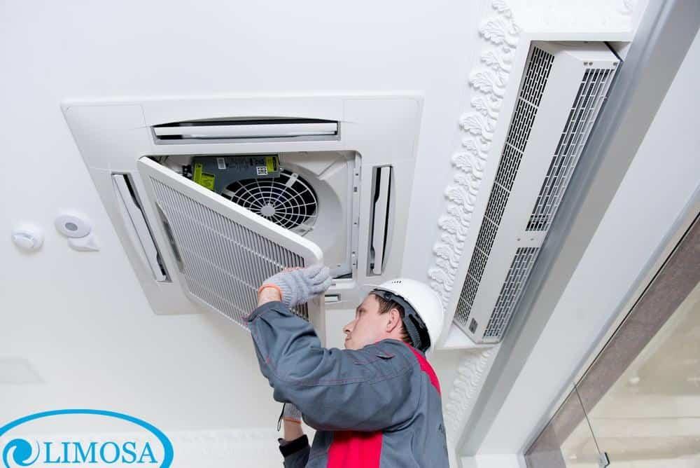 Các công đoạn tiến hành vệ sinh máy lạnh âm trần