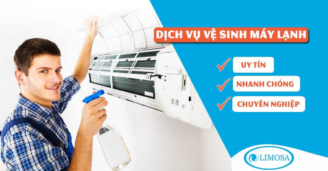 Dịch vụ vệ sinh máy lạnh Limosa