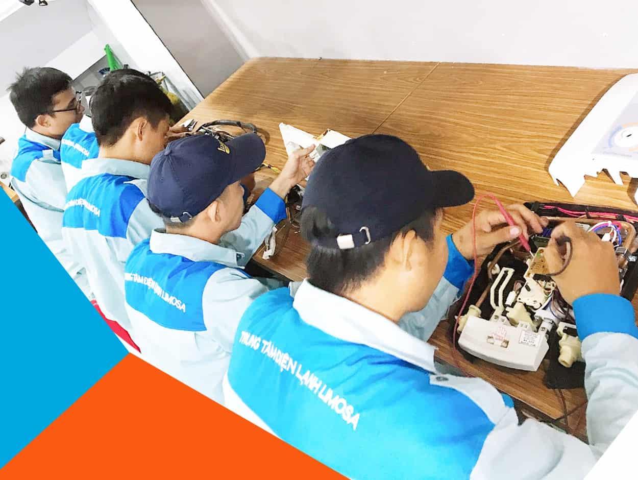 Đội ngũ kỹ thuật viên sửa máy lạnh quận Tân Phú Limosa