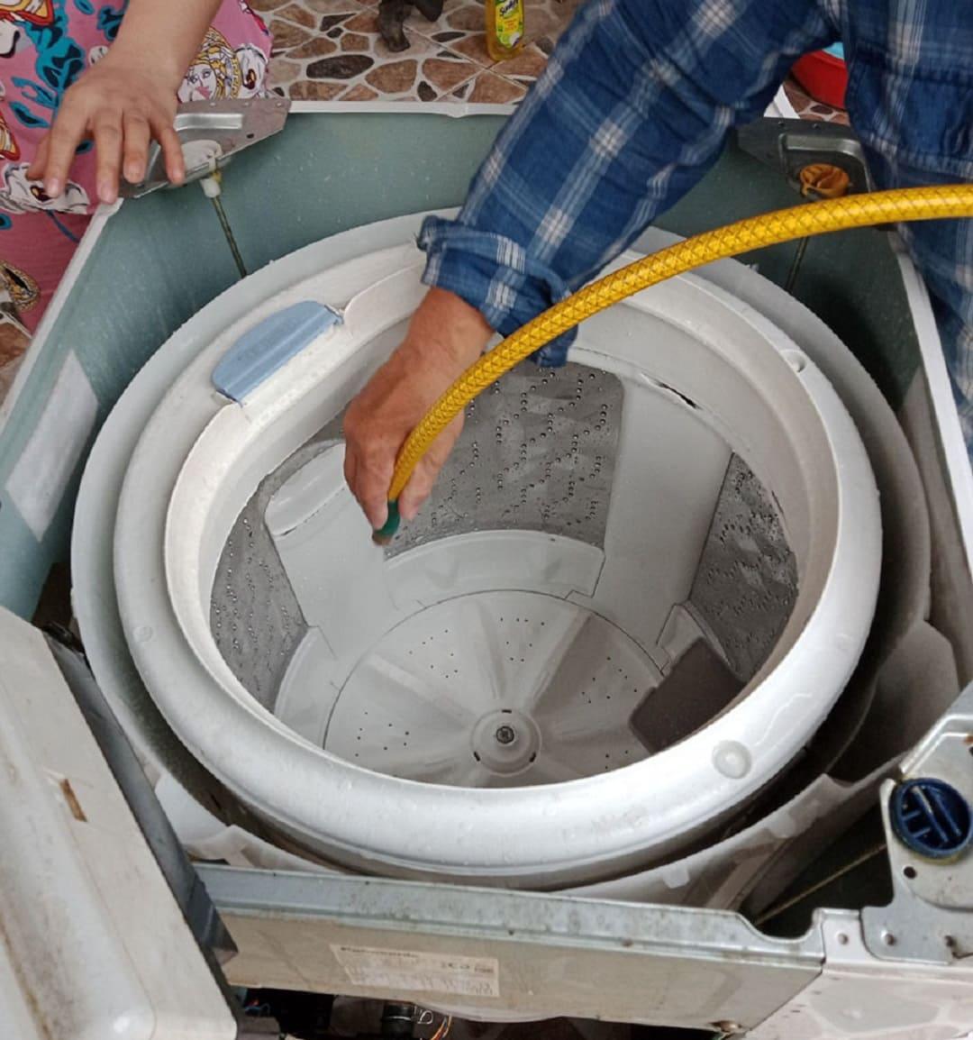 vệ sinh máy giặt quận long biên