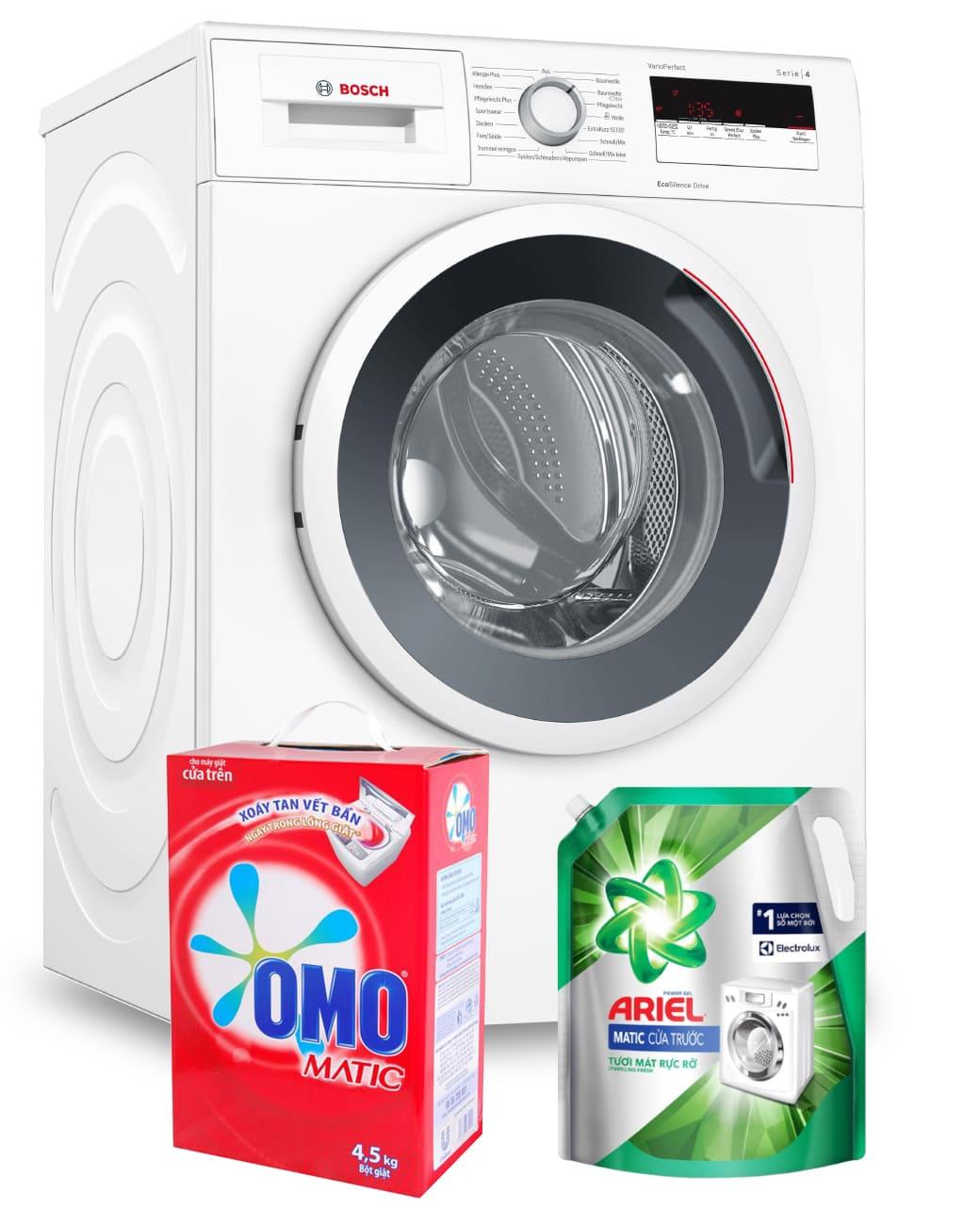 bột giặt dùng cho máy giặt cửa trước