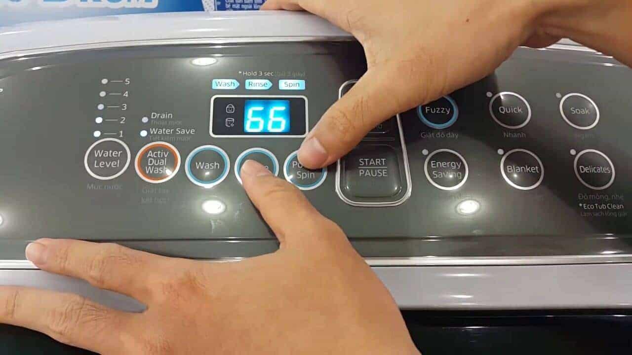 cách reset máy giặt sanyo