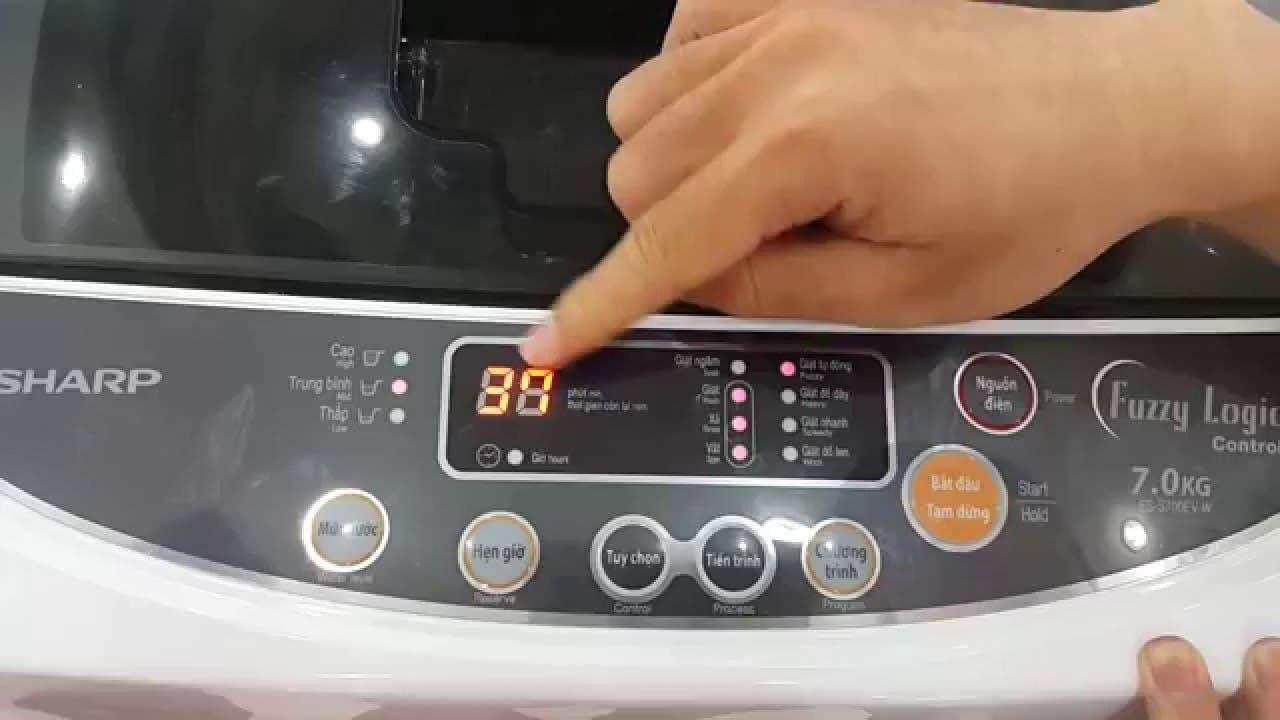 cách sử dụng máy giặt sharp