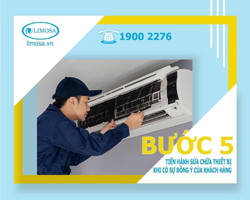 sửa máy lạnh bước 5