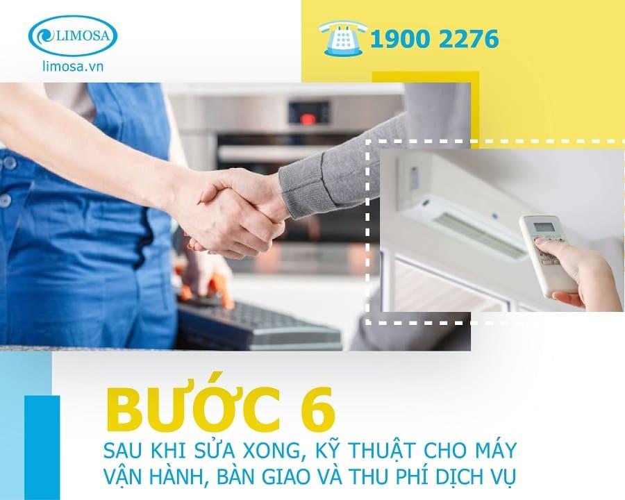 sửa máy lạnh bước 6