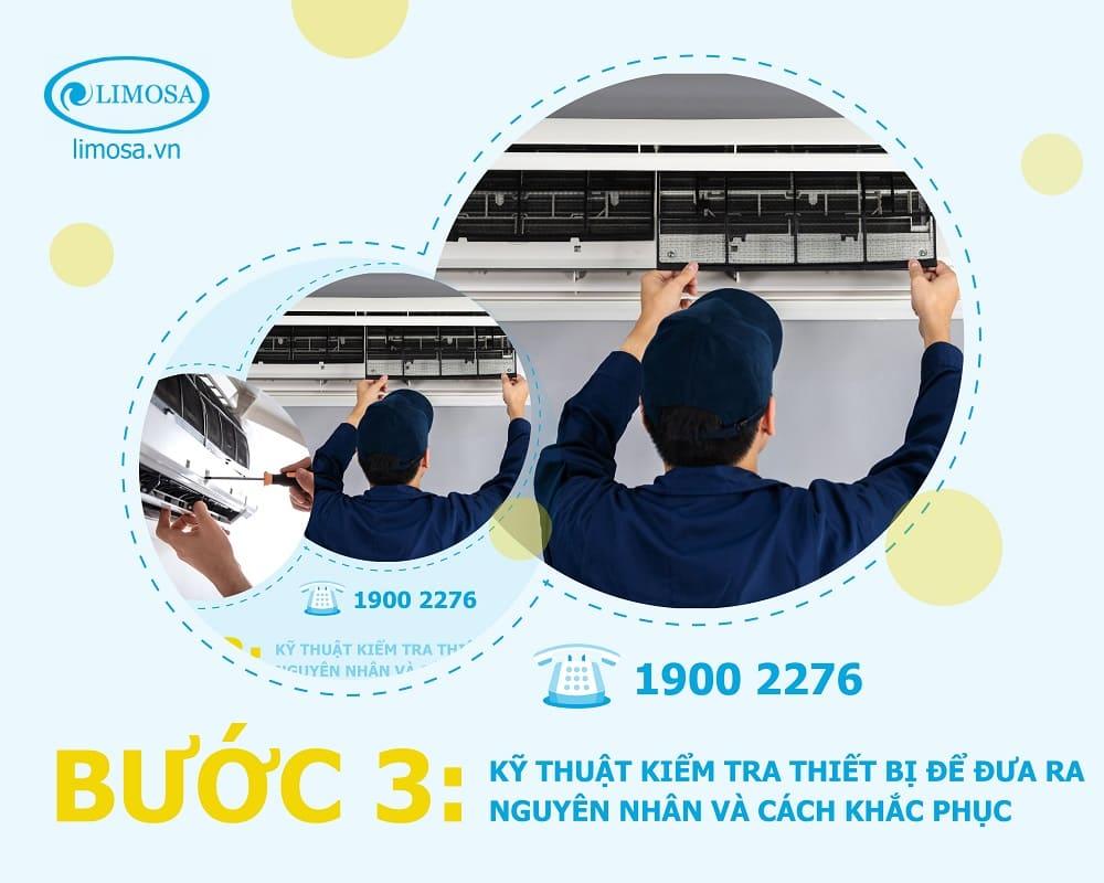 sửa máy lạnh bước 3