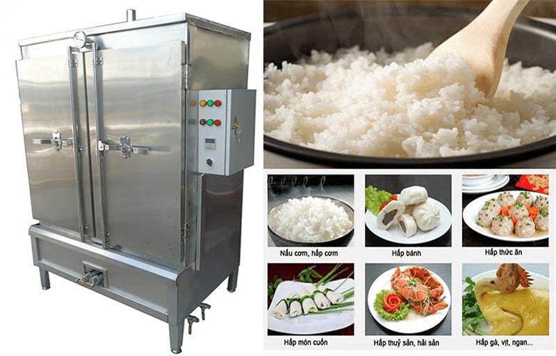 sửa tủ nấu cơm công nghiệp 24 khay