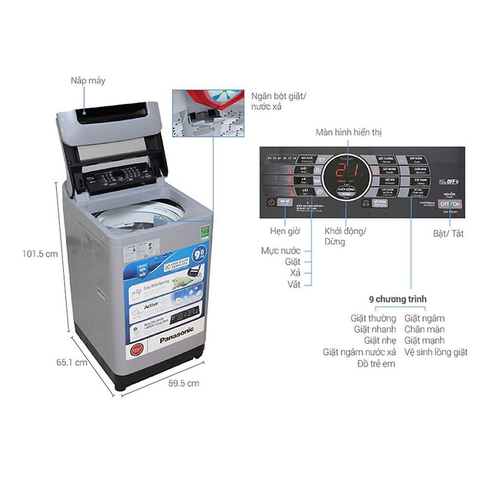 Vệ sinh máy giặt Panasonic
