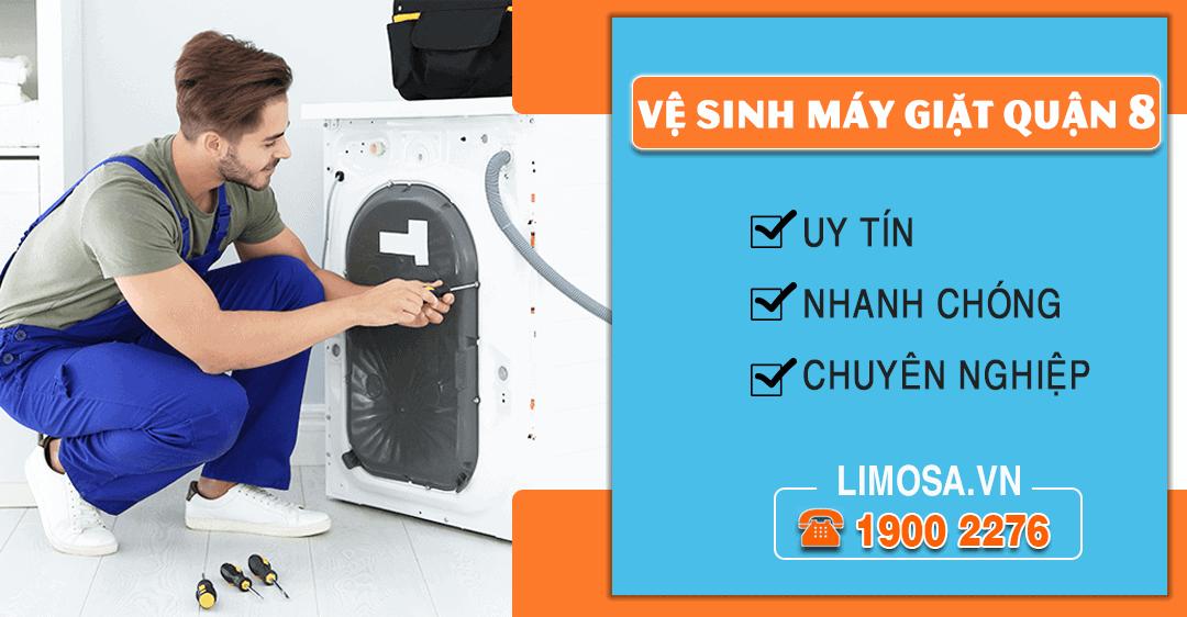 Dịch vụ vệ sinh máy giặt quận 8 Limosa