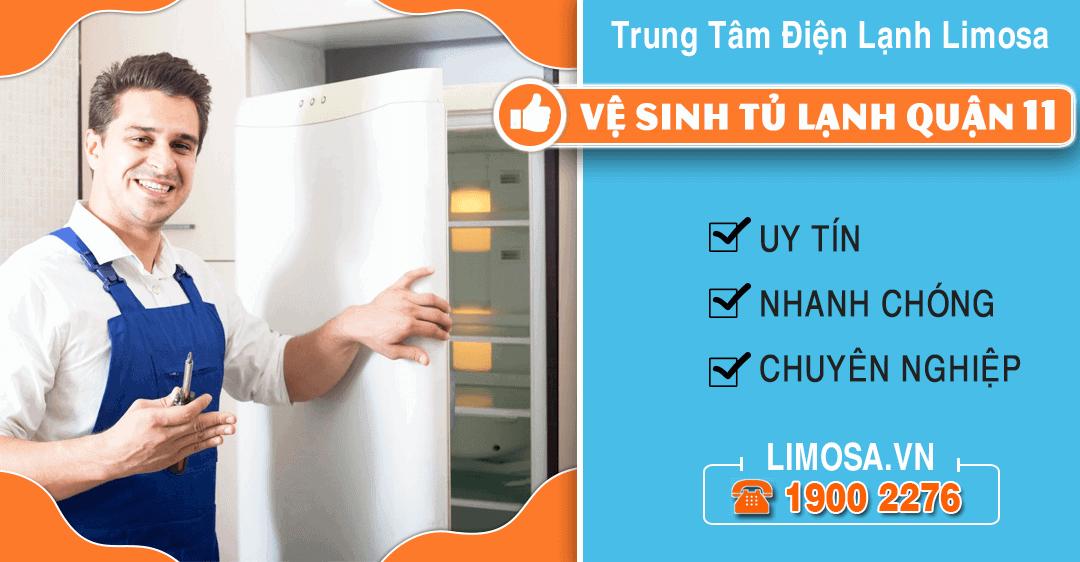 Vệ sinh tủ lạnh quận 11 Limosa