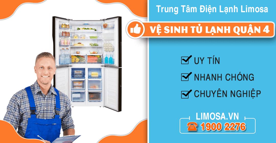 Vệ sinh tủ lạnh quận 4