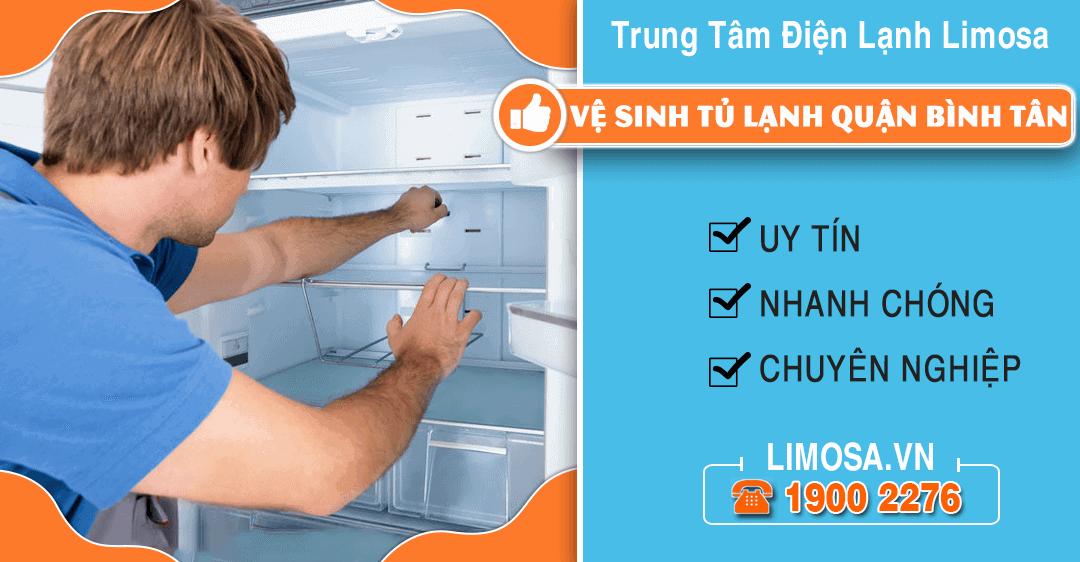 Vệ sinh tủ lạnh quận Bình Tân Limosa